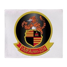 USMC - VMFA(AW) - 224 Throw Blanket