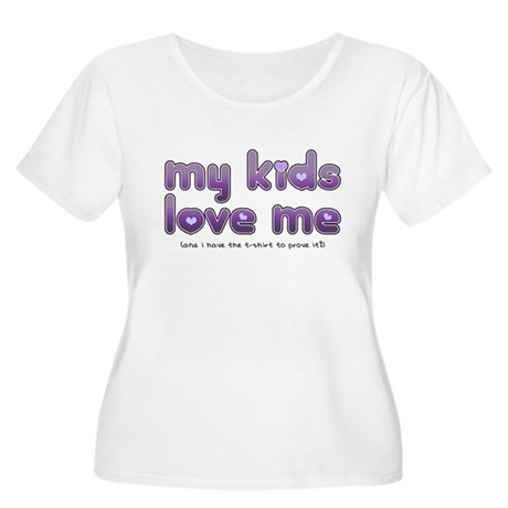My Kids Love Me Women's Plus Size Scoop Neck T-Shi