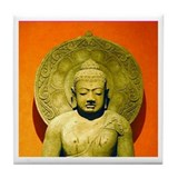 Indonesian Stone Buddha Tile Coaster