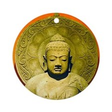 Indonesian Stone Buddha Ornament (Round)