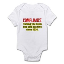 Compliance Turn Down Infant Bodysuit