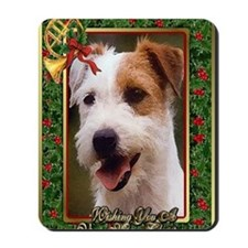 Jack Russell Terrier Dog Christmas Mousepad