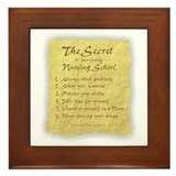 The Secret to Nursing School Framed Tile