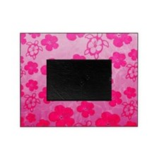 Pink Honu and Hibiscus Picture Frame