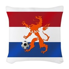 Netherlands Soccer Woven Throw Pillow