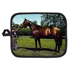 Thoroughbred Racehorse Watercolor Potholder
