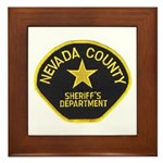 Nevada County Sheriff Framed Tile
