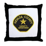 Nevada County Sheriff Throw Pillow