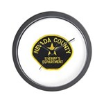 Nevada County Sheriff Wall Clock