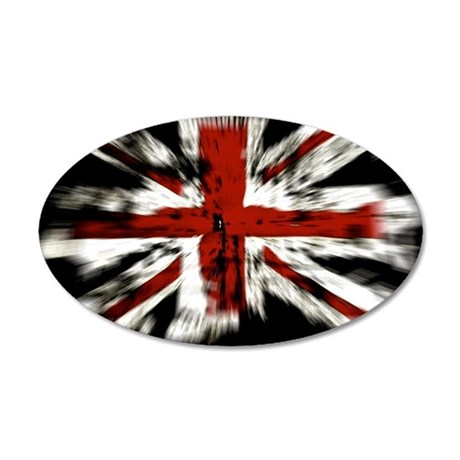 UK Flag England 35x21 Oval Wall Decal