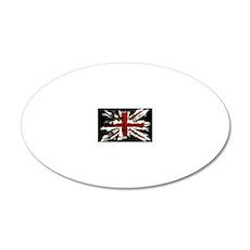 UK Flag England 20x12 Oval Wall Decal