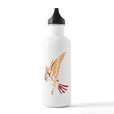Tribal style bird Sports Water Bottle