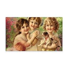 Vintage Victoria oil painting Rectangle Car Magnet