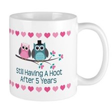 5th Anniversary Owl Gift Mugs
