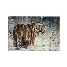 Tiger Painting Rectangle Magnet (100 pack)