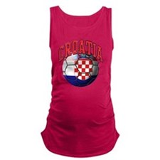 Flag of Croatia Soccer Ball Maternity Tank Top