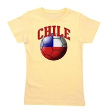 Flag of Chile Soccer Ball Girl's Tee