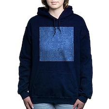 Blue Circuit Board Hooded Sweatshirt