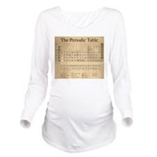 Periodic Table Long Sleeve Maternity T-Shirt