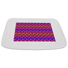 Rainbow Dachshunds Bathmat