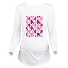 pink_Poodle_ipad.png Long Sleeve Maternity T-Shirt