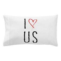 I Heart Us Pillow Case