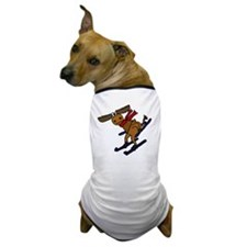 Moose Skiing Dog T-Shirt