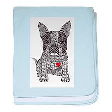 Friend - Boston Terrier baby blanket