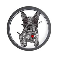 Friend - Boston Terrier Wall Clock