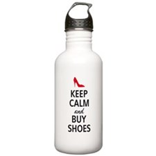 Keep calm and buy shoes Water Bottle