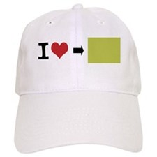 Customize Photo I heart Baseball Baseball Cap
