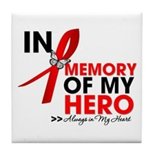 Heart Disease In Memory Tile Coaster