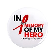 "Heart Disease In Memory 3.5"" Button (100 pack)"