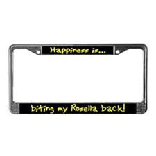 HI Biting Rosella License Plate Frame