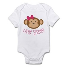 Little Sister Monkey Infant Body Suit