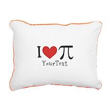 CUSTOMIZE I Heart Pi Rectangular Canvas Pillow
