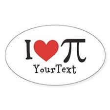 CUSTOMIZE I Love (Heart) Pi Decal
