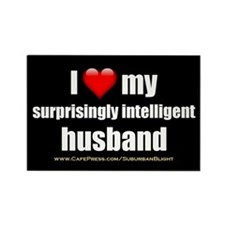 """Love My Surprisingly Intelligent Husband"" Rectang"