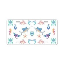 Tribal Ocean Fun Aluminum License Plate