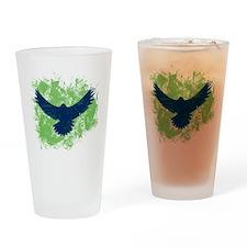 Seattle Soaring Sea Hawk Birds Drinking Glass