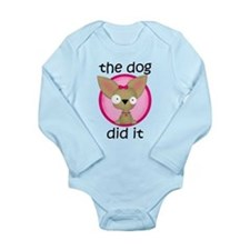 (Pink) Dog Did It Body Suit