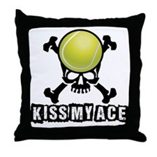 Kiss My Ace Throw Pillow