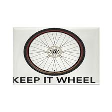 Keep it Wheel Rectangle Magnet