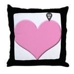Heart you are here - love declaration Throw Pillow