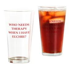 EUCHRE Drinking Glass
