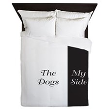The Dogs Side / My Side Queen Duvet
