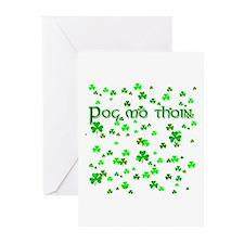 Shamrocks Pog Mo Thoin Greeting Cards (Pk of 10)