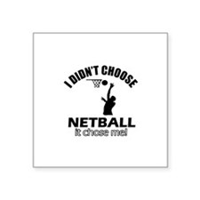 "netball Designs Square Sticker 3"" x 3"""