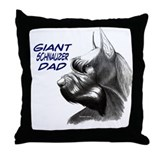 Cool Schnauzer dad Throw Pillow