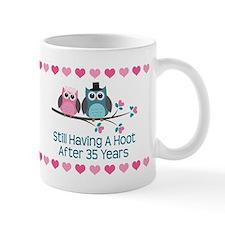 35th Anniversary Owl Gift Mugs